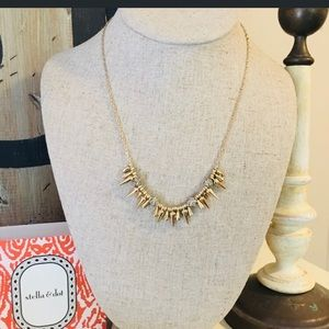 Stella & Dot Renegade gold and rhinestone necklace